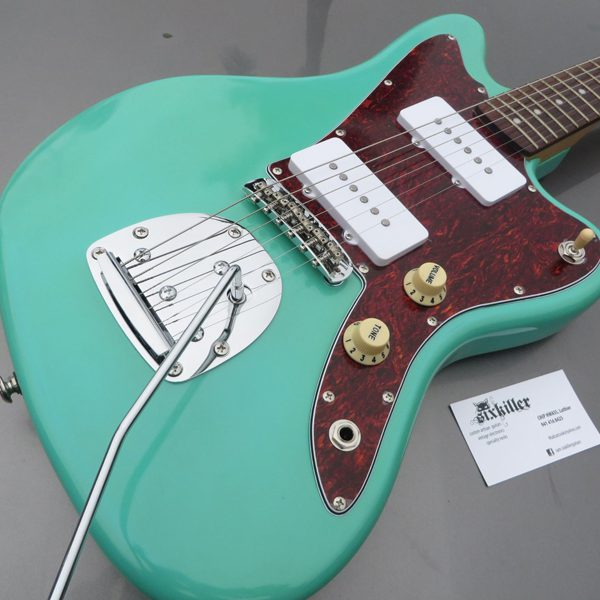 close-up of body of Jazzmaster