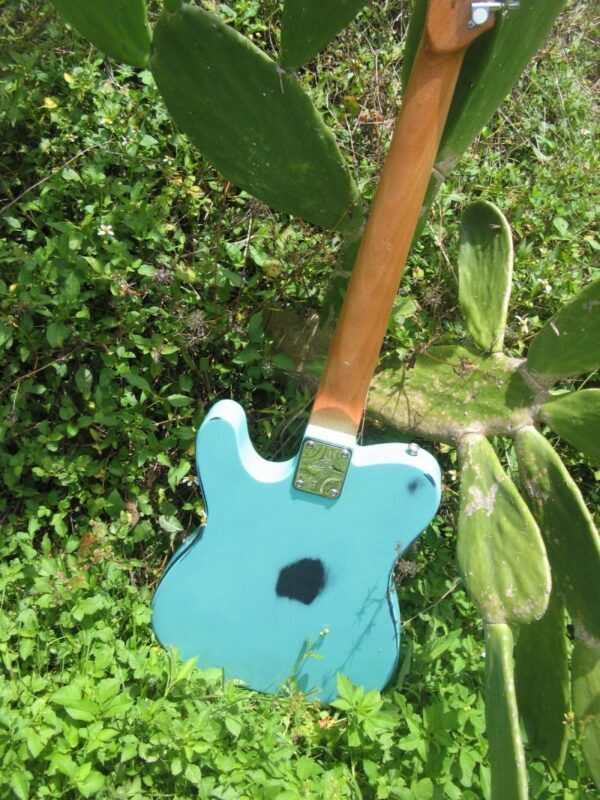 back of Sonic Blue Relic Telecaster