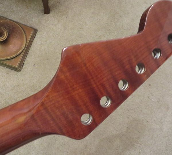 Roasted Curly Maple Stratocaster Neck head back